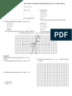 Soal Jawab Dan Latihan Menggambar Grafik Persamaan Garis Lurus