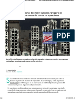 Las Ventas Inmobiliarias de Octubre Siguieron Groggy y Los Créditos Ya Representan Menos Del 10% de Las Operaciones