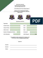 2018-19 SGA Budget Request Form