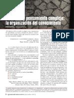 1. LECTURA Educacion y Pensamiento Complejo La Organizacion Del Conocimiento