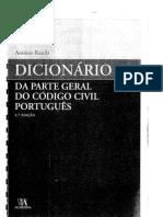 Antonio Katchi Dicionario Da Parte Geral Do Codigo Civil Portugues