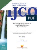 Behavioral Change Process in Coaching Relationship by Mukherjee 2008