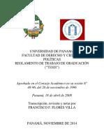 ReglamentodeTesisFacultaddeDerechoyCienciasPolíticas1996