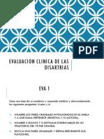 Evaluacion Clinica de Las Disartrias
