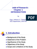 METHODS OF RESEARCH CHAPTER 1