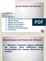 metodologia de ensino de idiomas