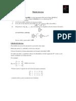 inversa de una matriz. teoria y ejercicios.pdf