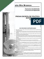 Irbr 13 Prova Escrita Politica Internacional