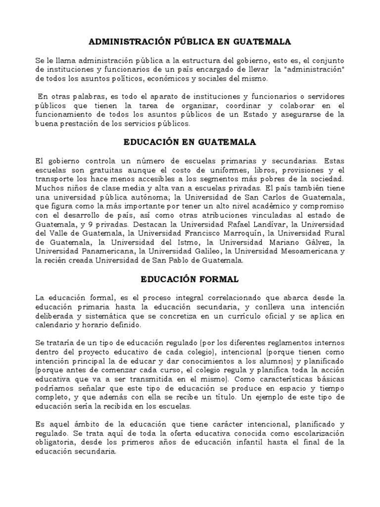 Administraci n p blica en guatemala for Que significa oficina