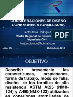 Consideraciones Para El Diseño de Juntas y Conexiones Atornilladas HSR 2018