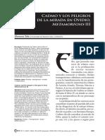 Dialnet-CadmoYLosPeligrosDeLaMiradaEnOvidioMetamorfosisIII-5411155.pdf