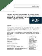 NCh2811 Of2006 - Trazado Atraviesos Paralelismo Redes AP y As