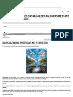 Glossário de Práticas No Terreiro _ Umbanda Do Chico
