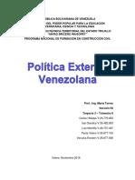 Política Exterior Venezolana - Temática 1 - Organismos y Convenios Internacionales