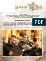 Fall 2018 Newsletter Patrons of Sacred Music