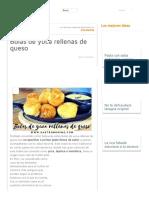 Bolas de Yuca Rellenas de Queso Yuca Cocida, Mozrela, Pimienta, Freir Salsa Tartara _ Cocina