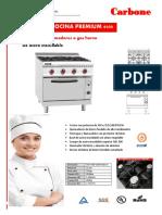 Catalogo Cocina de 4 Quemadores a Gas Horno