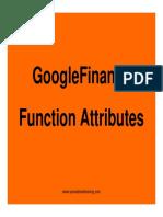 Googlefinance Function Atttributes