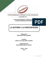 La Autoria y La Participacion Facultad de Derecho y Ciencia Política