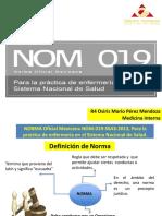 Tema 7. NOM 019. Para La Practica de Enfermeria en Sistema de Salud.dr MArio