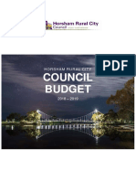 HRCC Model Budget 2018 19 Adopted by Council 25.6.18