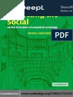 Hedström P. Dissecting the Social es