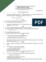 17D38101 Error Control Coding