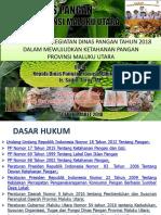 Materi Kadis Pangan 2018 Bptp
