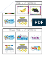 Bingo Game - My Fruit
