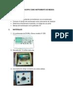 Laboratorio de Fisca 2 Osciloscopio