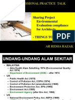 Environmental Legal Evaluation Awareness for Architects by Ar Ridha Razak