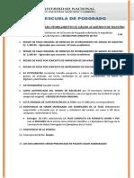 Requisitos Para Optar Grado de Maestro 2018