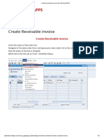 How to create Receivable Invoice _ Oracle Apps