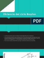 Eficiencia Del Ciclo Brayton
