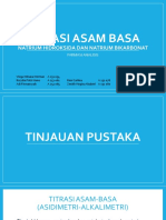 Titrasi Asam Basa Natrium hidroksida dan natrium bikarbonat