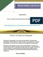 Ubicación de Los Fenómenos Demográficos en El Tiempo