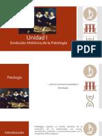 Unidad I - Evolución Historica de La Patología
