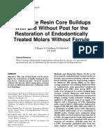 Composite Resin Core Buildups