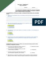 EXAMEN 1° TRIMESTRE - CIENCIAS 1
