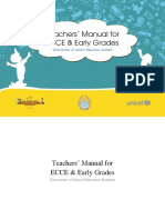 Teachers' Manual for ECCE & Early Grades Pre-primarymanual