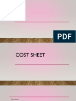 Cost Sheet 1