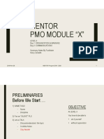 """MENTOR Project Management Office Module """"X"""" Org & Comm"""