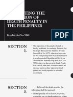 An Act Prohibiting the Imposition of Death Penalty