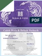 siebach-wolz wedding invitation