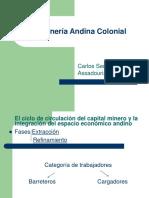 explicacion de la mineria andina colonial