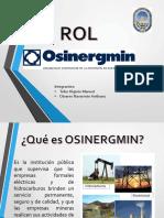 Rol de Osinergmin