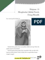 Aqidah Bab 13 Menghindari Akhlak Tercela Orang Munafik-1
