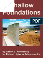 Robert E. Kimmerling, Federal Highway Administration - Shallow Foundations (2006, Lightning Source Inc)