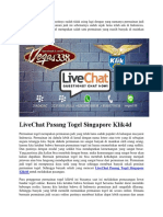 LiveChat Pasang Togel Singapore Klik4d