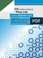 EBARA Australia Price List Sep 2016 R17